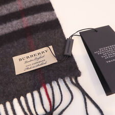 100% authentic BNWT BURBERRY giant check cashmere scarf charcoal check grey