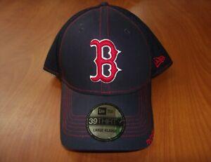 New Era 39Thirty Boston Red Sox Baseball Performance Stretch Fitted Hat L/XL NWT