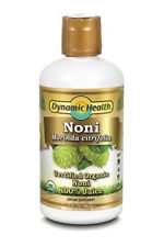 Pack of 4 bottles Dynamic Health 100% Pure Organic Certified Noni Juice 946ml