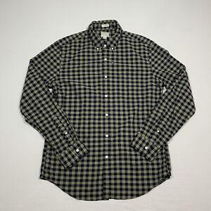 NWOT J.Crew Slim Stretch Men's Large Multicolor Check L/S Button Down Shirt