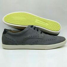 Mens Cole Haan Joshua Pewter Suede Wingtip Brogue Oxfords Sneakers 11.5 Shoes