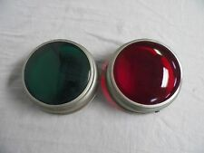 2 Mitchell Christmas Tree Light Reflector Shade Lenses RED & GREEN
