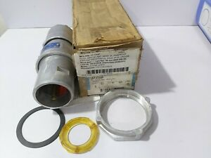 COOPER CROUSE-HINDS APJC64P PLUG 3 WIRE 4 POLE STYLE-2 60 AMP RAIN PROOF PLUG