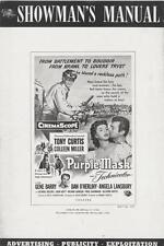 THE PURPLE MASK pressbook, Tony Curtis, Colleen Miller +LOBBY CARD SET & POSTER