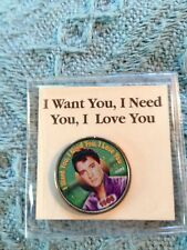 """NOS ELVIS MYSTIC COLORIZED QUARTER TOP 40 HITS """"I WANT YOU, I NEED YOU, I LOVE"""""""