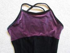 Danskin Women's black purple unitard bodysuit 1 pc leotard yoga dance ballet S