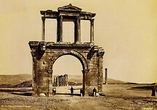"Pascal Sebah photo, ""Arc d'Adrien et Temple de Jupiter""l"" 1880s"