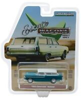 Greenlight 1955 Chevrolet Nomad in Regal Turquoise and India Ivory 1/64 29950A