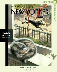 NEW YORK PUZZLE COMPANY NYPC 500 Pc Puzzle – Let Sleeping Cats Lie 04652