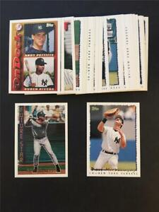 1995 Topps New York Yankees Team Set With Traded 30 Cards