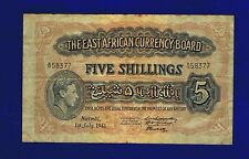 East Africa British 5 Shillings 1941  PIC28A Almost fine/Fine