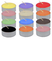24 Tea lights Unscented Various Colours