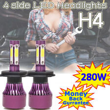 H4 LED Headlight Bulb Kits 280W Vehicle High Low Beam Replace Halogen Xenon HID