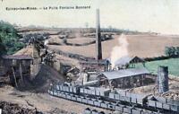 CPA 71 EPINAC - LES - MINES - Puits Fontaine - Bonnard (cpa toilée émaillée)  (