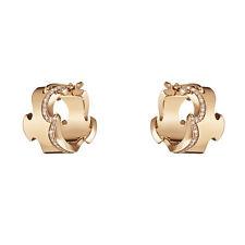 Georg Jensen Rose Gold Earrings w/ Diamonds - Fusion #1371