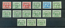 Netherlands 1940 regular issue overprints 2.5c to 80c mint never hinged