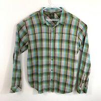 Prana Mens Plaid Flannel Long Sleeve Shirt - Size Extra Large XL X-LRG