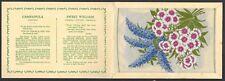 More details for wix (j) - kensitas flowers (extra large, printed) - campanula, sweet william