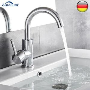 Hoch Wasserhahn Badarmatur Waschbecken Einhandmischer Mischbatterie Wasserfall