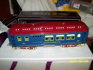 MTH TINPLATE TRADITIONS 10-1144  IVES RAILWAY 4 CAR 240 PASSENGER SET ~ NOS !