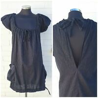 All Saints Black Cotton Dress with Pockets size 8