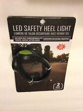 Safety Heel Light LED Night Jogging Walking Running Shoe Warning Outdoor Geen