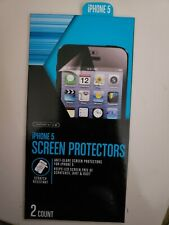 Cell phone screen protectors, for iPhone 5, anti-glare screen protection, 2/pack