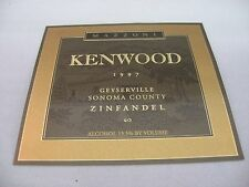 Wine Label: KENWOOD MAZZONI 1997 Zinfandel Geyserville Sonoma California