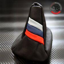 Bmw E46 1998-2005 Serie 3 M3 M Power Sport De Cuero Gear Stick Perilla Tapa Polaina