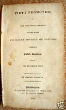 1829 QUAKER BOOK THE ELEVENTH PART PIETY PROMOTED
