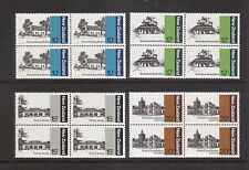 New Zealand 1979 Architecture MUH set 4 stamps in blocks 4.