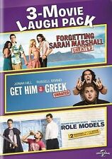 NEW 3 DVD FORGETTING SARAH MARSHAL GET HIM TO GREEK ROLE MODELS FREE 1STCLS S&H