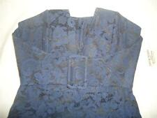 NEW WOMENS GUESS BY MARCIANO NAVY BLUE MINI CORSET STRAPLESS JACQUARD DRESS S 4