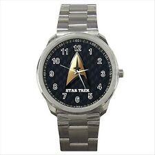 NEW* HOT STAR TREK Black Quality Sport Metal Wrist Watch Gift