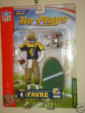 NFL RE-PLAYS Series 3 BRETT FARVE THROWBACK RARE Greenbay Packers figure NEW