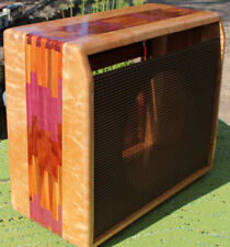 65 68 Princeton Reverb Amp Cabinet Fender Grill Curly Maple Canary Purple Wood