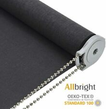 ALLBRIGHT Light Filtering Privacy Roller Shade (35 x 72 inches) Dark Grey