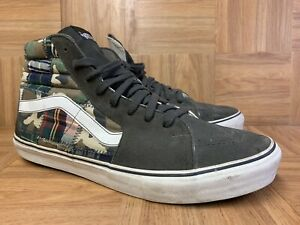 RARE🔥 VANS SK8-Hi Vault LX Army Camo Patchwork Camouflage Skate 13 Men's Shoes