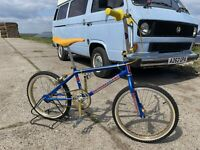 old school bmx Pro Neck National Pro 1982 Blue Yellow Diacompe Araya Kashimax