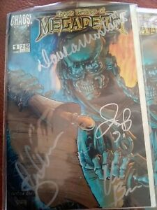 Megadeth autographed Chaos Comic: Cryptic Writings Volume ONE.
