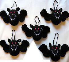 5 HANDMADE Knit CROCHET Hang BATS Kids TOY DOLL for HALLOWEEN Holiday CHRISTMAS