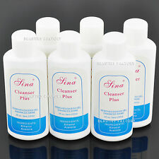 6x UV GEL NAIL CLEANSER PLUS LIQUIDO superficie residuo REMOVER VOLUME 2 fl.oz # 18x2