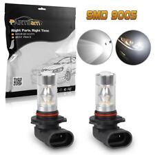 2pc 6000K White HB3 9005 100W Daytime Running Light LED Projector Lens Bulbs