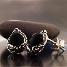 Onyx Silber 925 Ohrringe Ohrstecker S179