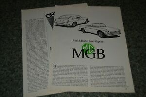 ★★1970 MGB ORIGINAL FIRST LOOK ROAD TEST OWNER REPORT ARTICLE 70