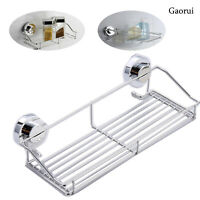 Stainless Steel Kitchen Bathroom Shower Shelf Storage Suction Basket Caddy UK