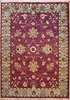 Rugstc 4x6 Senneh Chobi Ziegler Purple Area Rug,Natural dye, Hand-Knotted,Wool