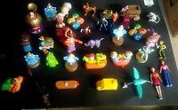McDonalds & Burger King Happy Meal Collectible Figurines Mattel Disney Lot Of 35