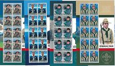 64440 -  GIBRALTAR - STAMPS - 2007 EUROPA CEPT: Boy Scouts MINIATURE SHEETS