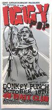 Iggy Pop Concert Poster 2001 Jeff Wood & Johnny Thief